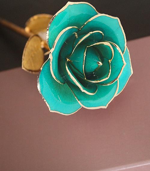 天蓝色金叶子单枝