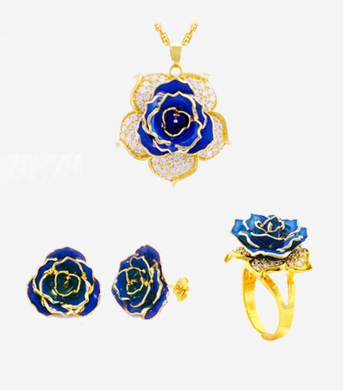 五瓣花款玫瑰首饰套装