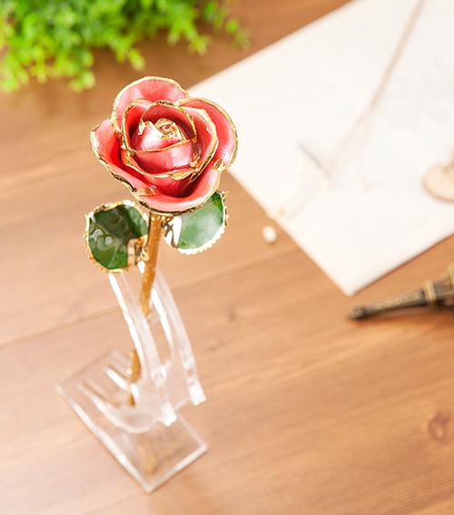 粉色外贸单枝花