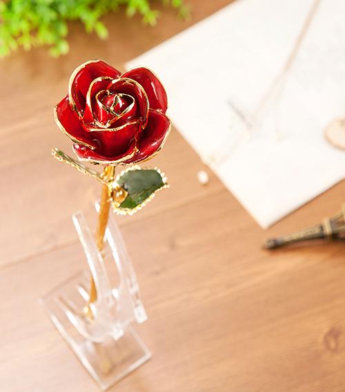 红色外贸单枝花