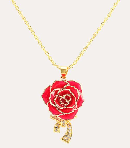 蝴蝶结玫瑰花玫红色
