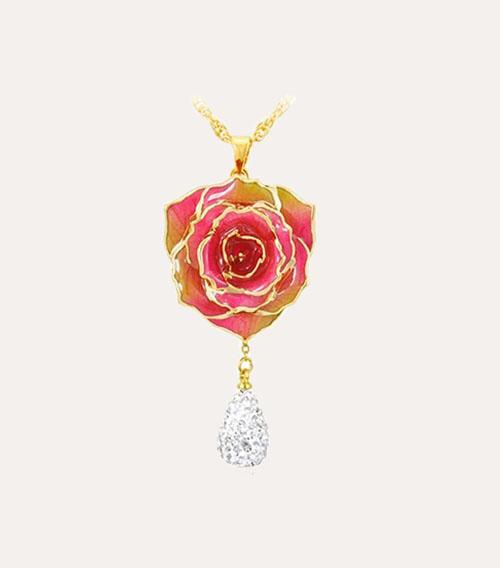 水滴款玫瑰花吊坠