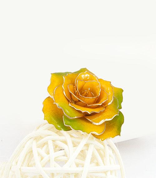 镀金玫瑰花箱包配饰