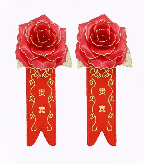 商用镀金玫瑰胸花